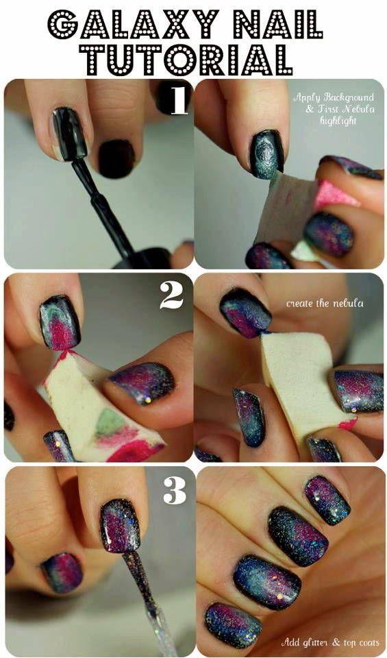 "Check out Alison O'M's ""DIY Galaxy Nails"" Decalz @Lockerz"