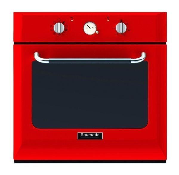 Baumatic BOR610RD 60cm Retro Multifunction Oven Red