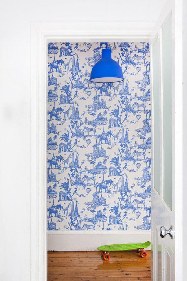 blue hallway   home of Nicola   Orlando Reindorf via the design files. 17 Best ideas about Blue Wallpapers on Pinterest   Mermaid