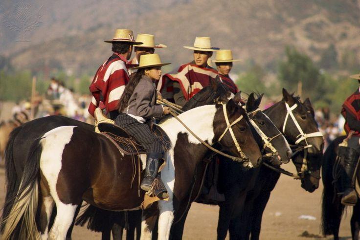 Riders at the Fiesta de Cuasimodo, a traditional festival...