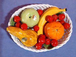 Capodimonte Bassano Keramik Obstkorb mit Früchten Majolika   eBay