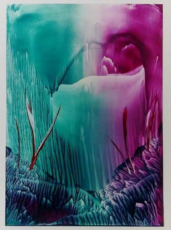 Original encaustic wax painting postcard £8.00