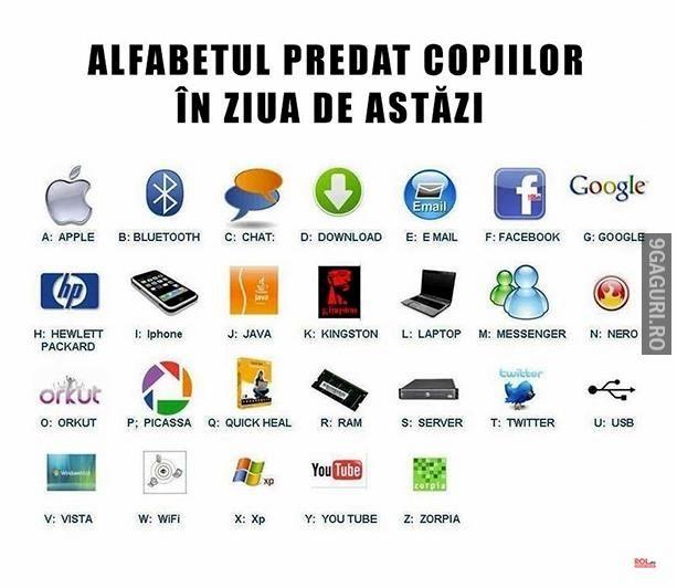 Alfabetul predat în ziua de astăzi Link Postare ➡ http://9gaguri.ro/media/alfabetul-predat-in-ziua-de-astazi