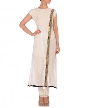 Ivory Tunic with Zari Embroidery