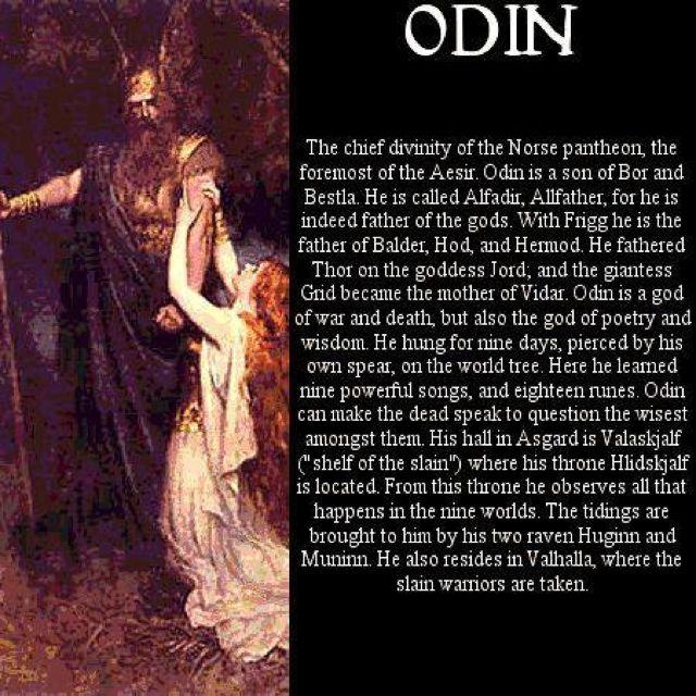 Odin - Vikings - Norse mythology                                                                                                                                                                                 More