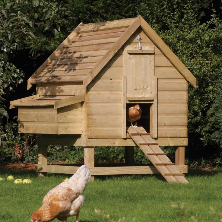 Log Cabin Chic | Rowlinson Large Chicken Coop Hen House FSC Timber Easy Egg Collection