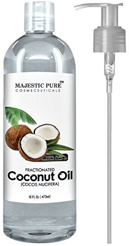 Majestic Pure Fractionated Coconut Oil, For Aromatherapy Relaxing Massage, Carrier Oil for Diluting Essential Oils, Hair & Skin Care Benefits, Moisturizer & Softener