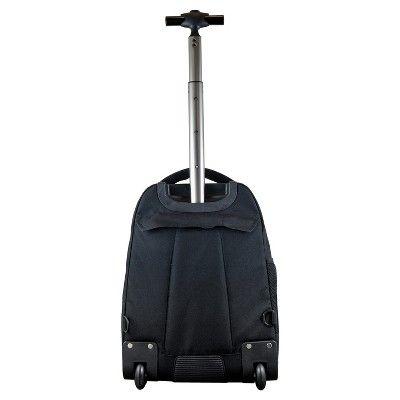 NCAA Washington State Cougars Black Premium Wheeled Backpack
