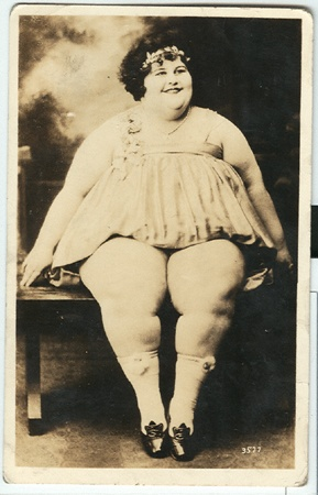 Dolly Dimples, ca. 1920 -  Celesta Geyer (née Herrmann, 18 July 1901 – February 1982), was a woman most famous for being the circus fat lady known as Dolly Dimples.