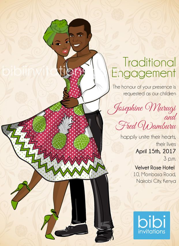 Kenyan Traditional Wedding Invitation