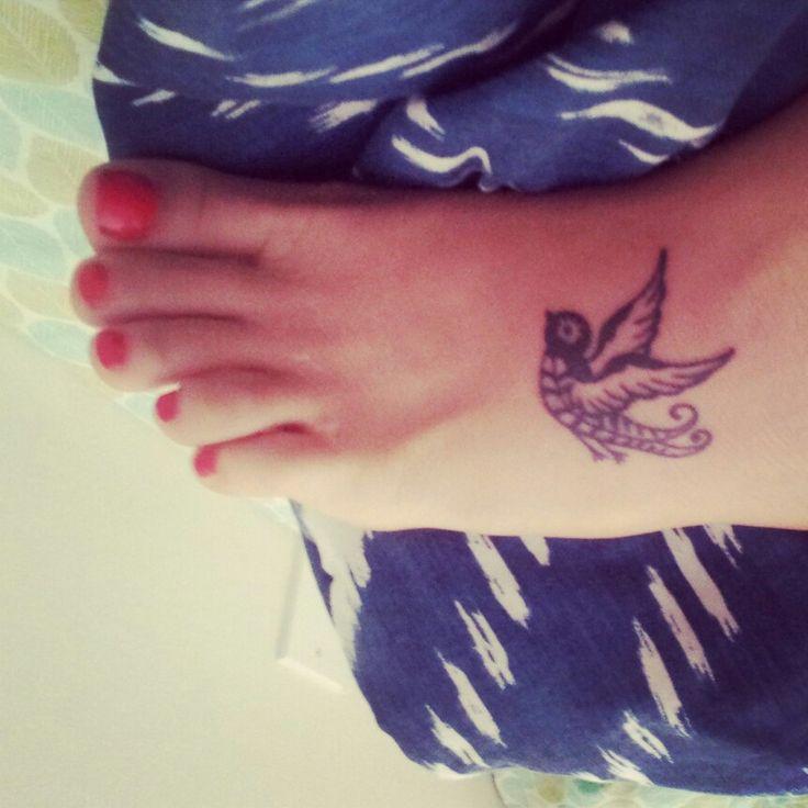 Small sparrow tattoo. Love tat!
