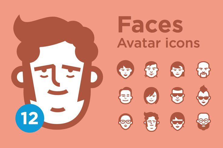 Jimi's Avatar Icons – Mix Set - Icons - 1 Avatars icon set Minimalist face icons