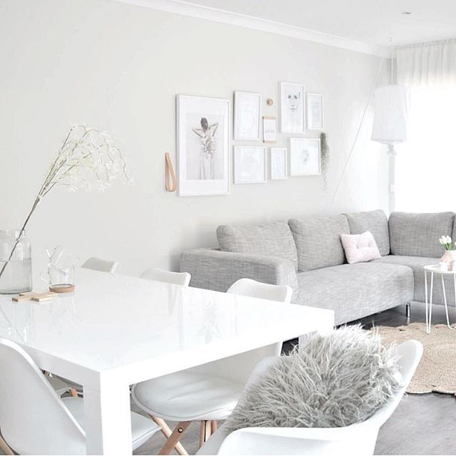 Picture perfect living/dining space by  The Design Minimalist. theguideonline.com.au