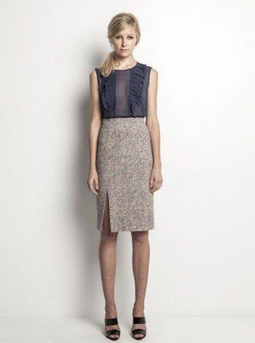 Helen Cherry Maisie Blouse (Blue Smoke) & Julianne Skirt (Ecru) #HelenCherry