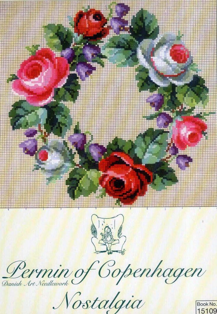 Милые сердцу штучки: Вышивка крестом: Дизайны в стиле ретро (бордюры, уголки, букеты) от Permin