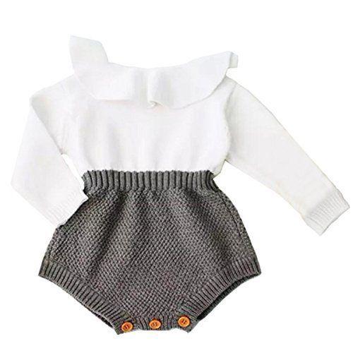 Urkutoba Baby Girls Romper Tricoté Manches Longues Combinaison Bébé Enfants   – Designer Products Best Price