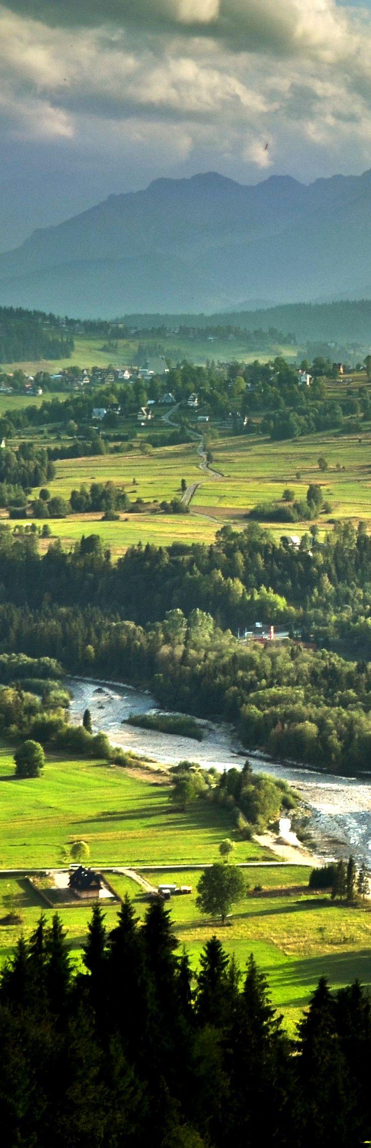 Białka Tatrzańska in Poland  More: http://www.nocowanie.pl/rezerwat_przyrody_przelom_bialki,150503.html  #mountains #landscape #travel #view #beautiful #Poland #nocowaniepl
