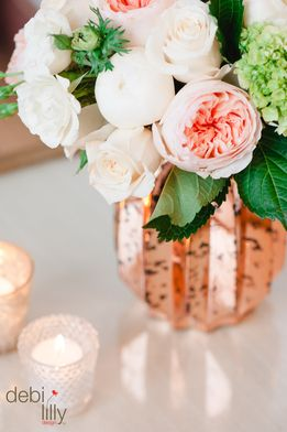 Make the coming winter months magical with debi lilly design™ floral! Mix and match a brassy and worn vase with elegant and clean flowers for a unique and timeless look!