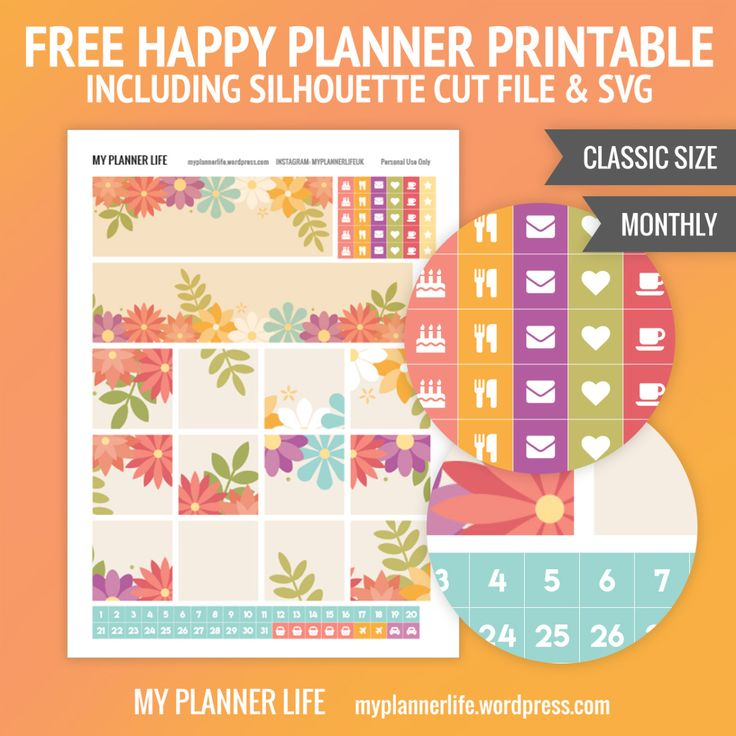 Free Printable Monthly Planner Stickers