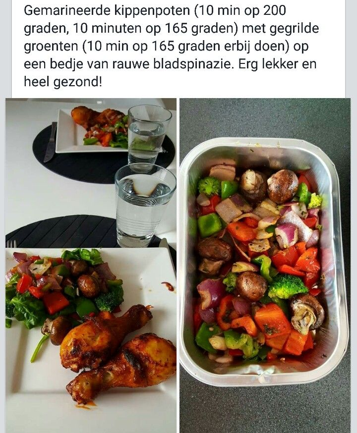 AIRFRYER: Gemarineerde kip en verse groenten