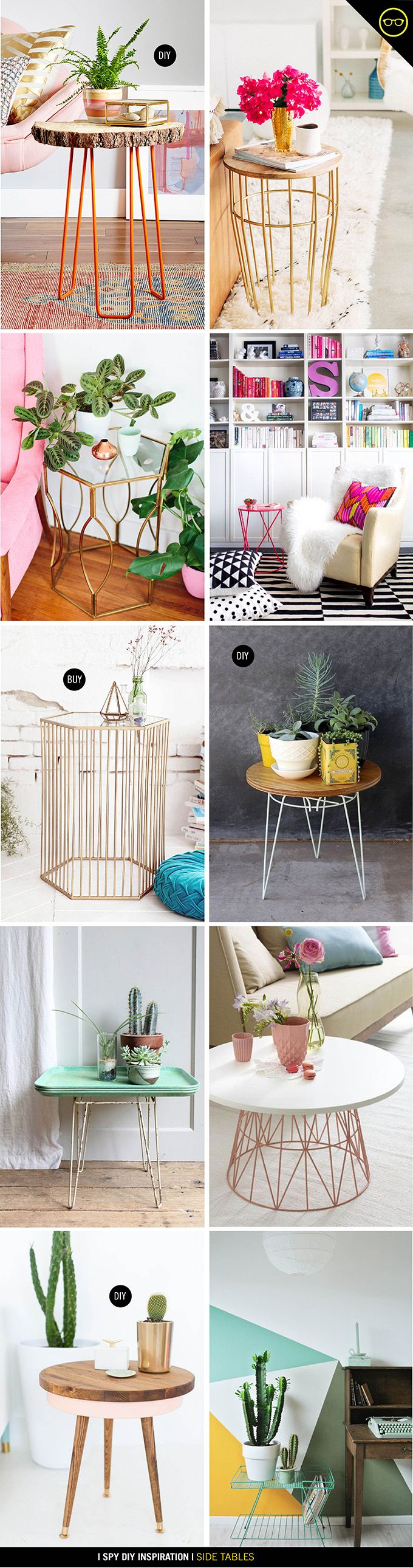 WeLoveHomeBlog.com - sometimes the simplest ideas are the best INSPIRATION | Side Table