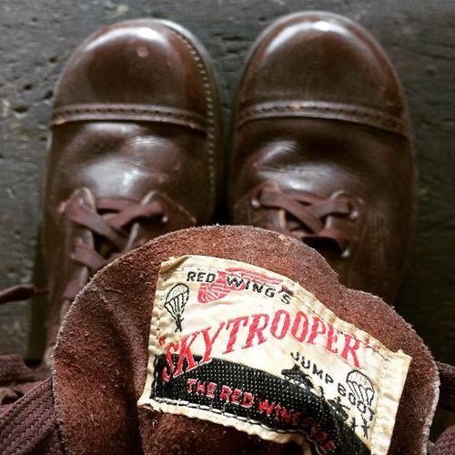 レッドウイング・ベルリン・ハンブルグのTumblr、アーカイブ・マンデー: 1940年代のスカイトゥルーパー・ジャンプブーツ。コンディションもかなり良いです。希少性、非常に高い!!
