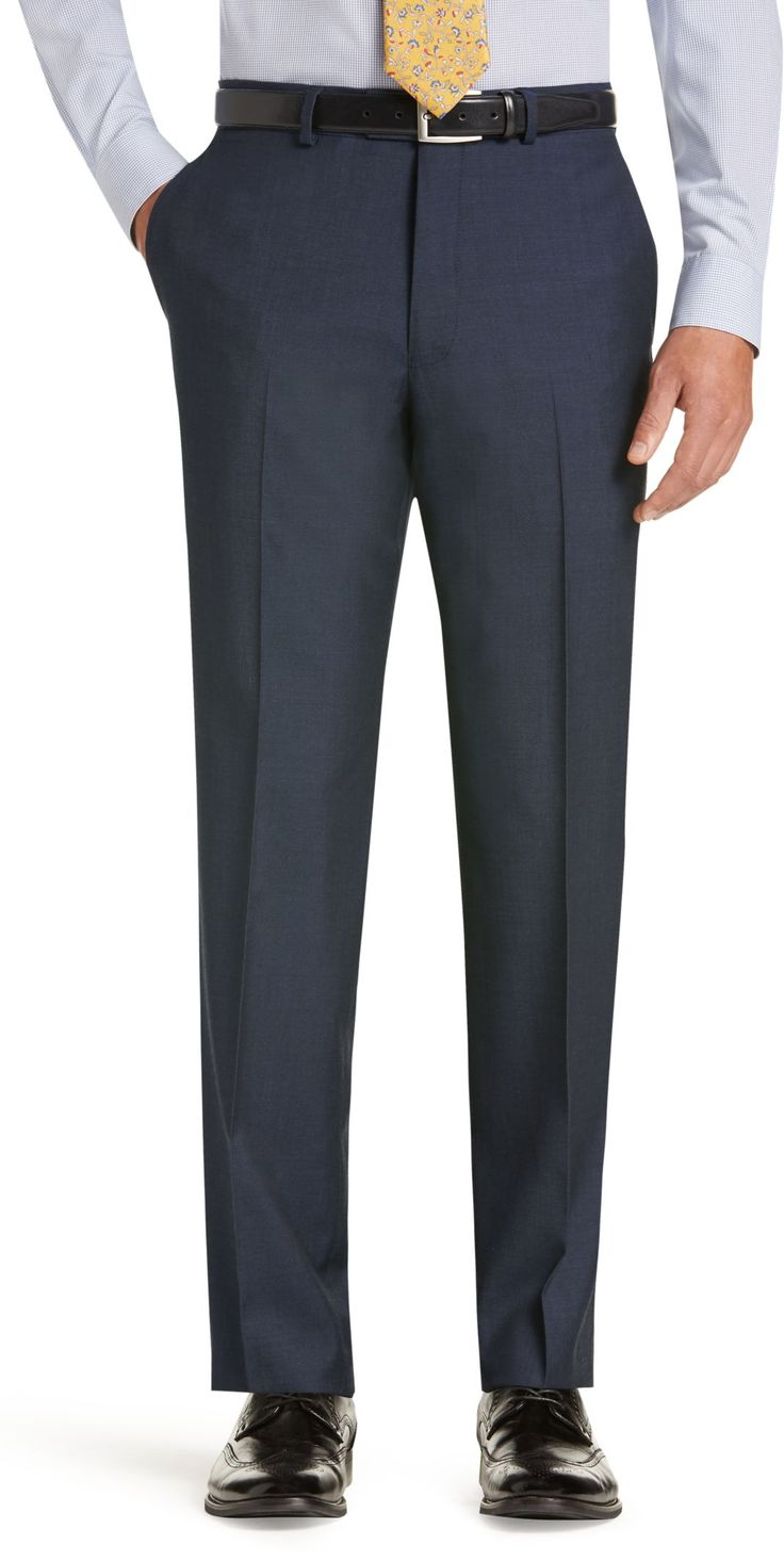 Classic Collection Suit Separate Tailored Fit Plain Front Trousers - Big and Tall