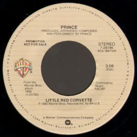 """Prince - Little Red Corvette 7"""" Promo"""