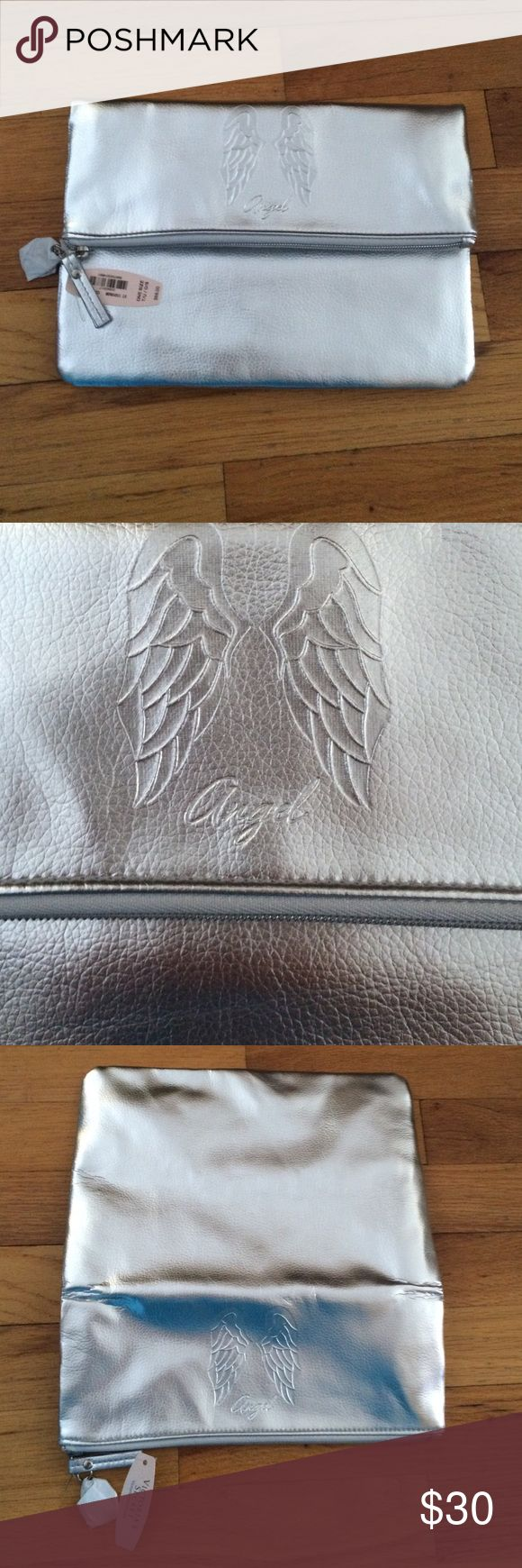 •Victoria's Secret• Angel Clutch •Brand new with tags •Can be a folded up for more storage or folded down for a clutch Victoria's Secret Bags Clutches & Wristlets