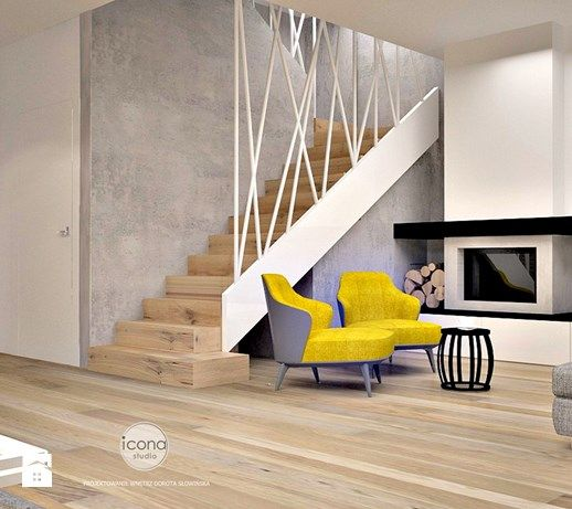 Segment w warszawie - Średnie schody, styl nowoczesny - zdjęcie od Icona Studio