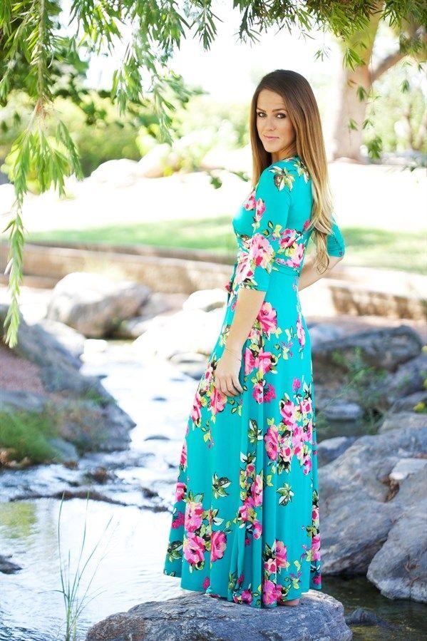 Modest Maxi Wrap Dress