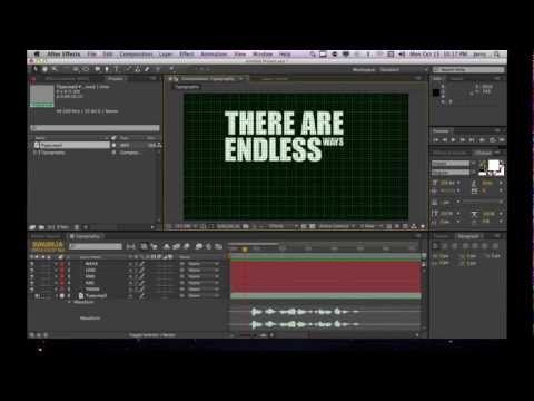 NEW Kinetic Typography Tutorial - Animating Text in After Effects CS6
