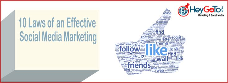 """10 Laws of an Effective Social Media Marketing"""