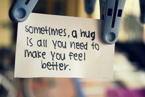 Sometimes, a hug is all you need....