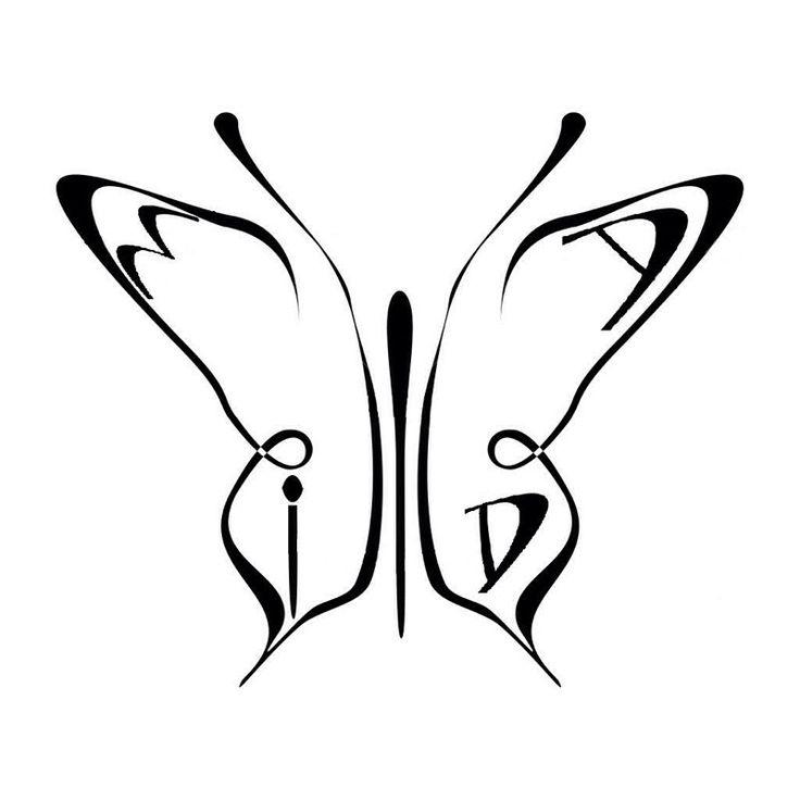 dit wordt mijn tatoeage vlinder met de initialen van mijn. Black Bedroom Furniture Sets. Home Design Ideas
