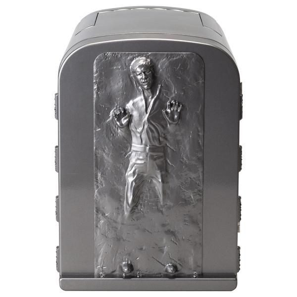 (affiliate link) NEW STAR WARS HAN SOLO IN CARBONITE 3D 4 LITER THERMOELECTRIC MINI FRIDGE COOLER