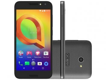 "Smartphone Alcatel A3 16GB Preto Dual Chip 4G - Câm. 8MP + Selfie 5MP Tela 5"" Proc. Quad Core"