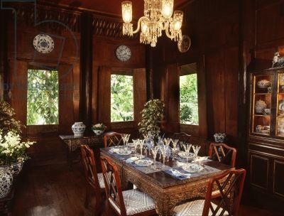 Jim Thompson House, Dining Room.  Bangkok.