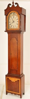 Antique American Pennsylvania Dutch Federal grandfather tall case clock 1820