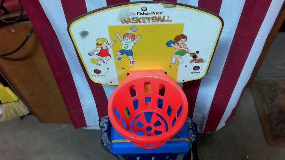 Vintage 1973 Fisher Price Basketball Hoop by FriendsRetro on Etsy, $28.00