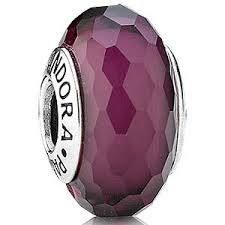 BEAD S/S GLASS PURPLE FACETED MURANO - Jons Family Jewellers