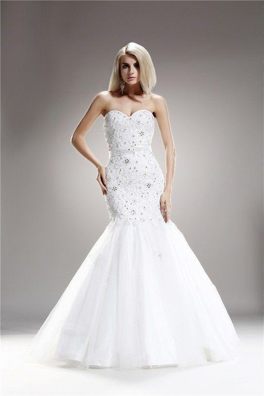 Strapless Embellished Fitted Wedding Gown 108-AB6703 Wedding Dress Inexpensive Wedding Dress