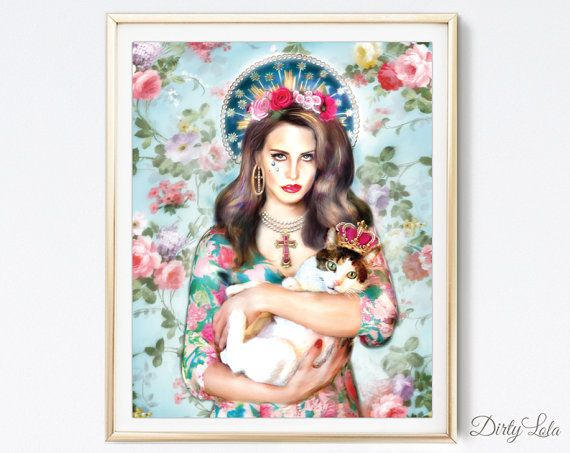 Lana Del Rey  Portrait  Illustration  Art Print  by DirtyLola
