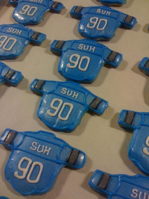 Detroit Lions/Ndamukong Suh cookies