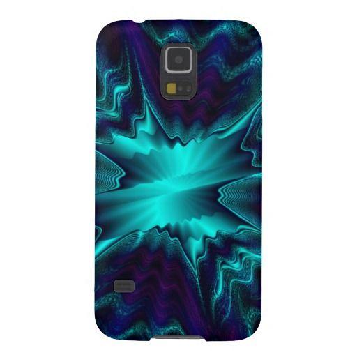 Cobalt Blue Fractal Galaxy S5 Case