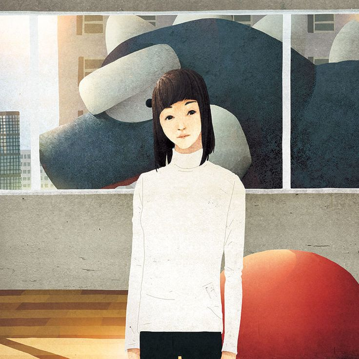 Tom Lemarr crea simples ilustraciones - Antidepresivo