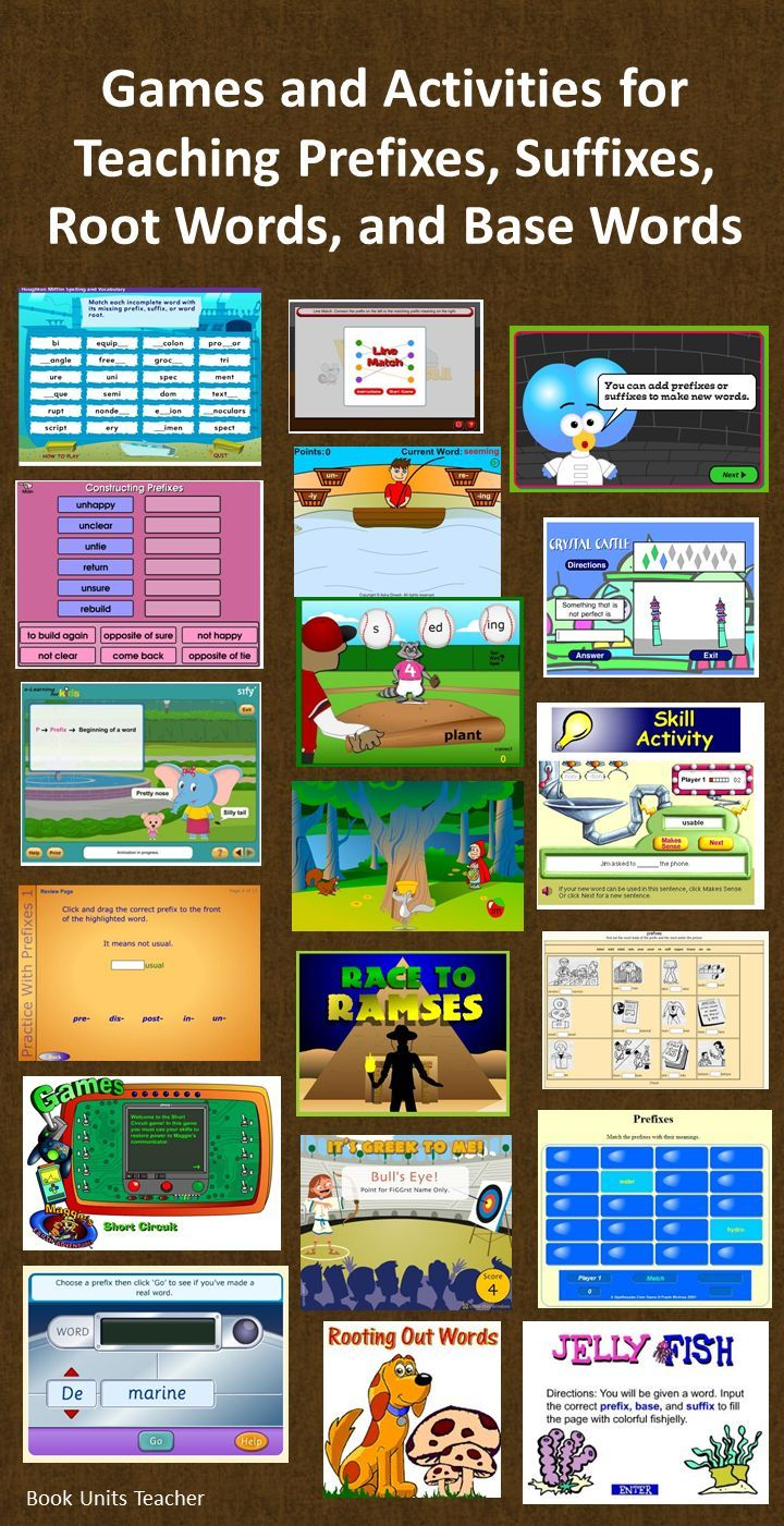 What a great webpage!! Links to 19 online games all in one place. This is a great link to provide parents when you are studying prefixes, suffixes, and root words.