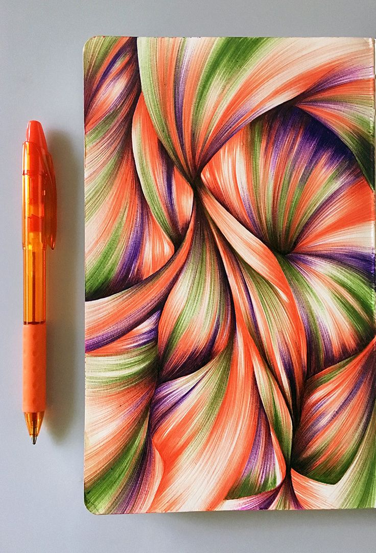 Color drawing pens for artists - My Vacation Drawing Was Influenced By The Tropical Color Palette Of My Travels