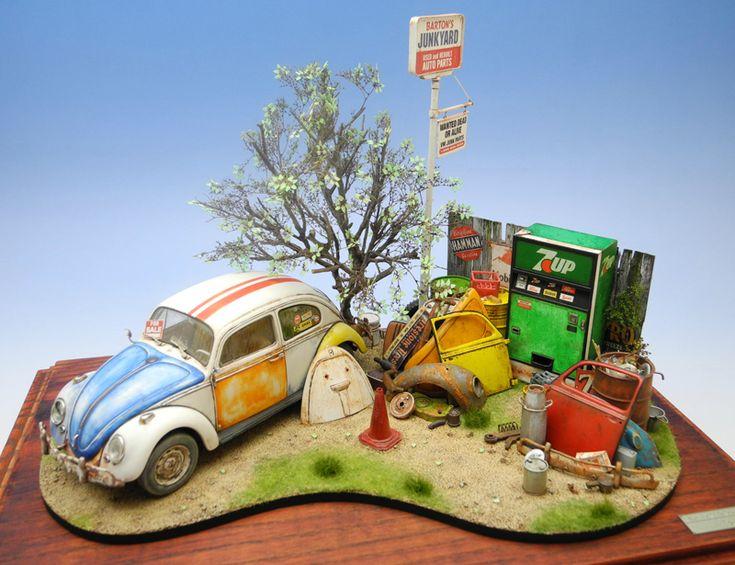 Wen2k Com Junk Yard Salvage Yard Auto Repair Garage: Doozy ModelWorks VW Beetle. So Realistic And So Detailed