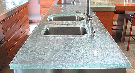glass countertop | Glass Countertops Review | Recycled Glass Countertop Ideas | The ...